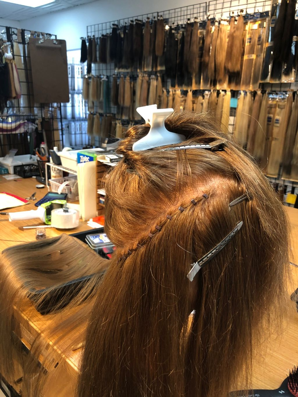 How to apply beaded row, hand tied hair extensions