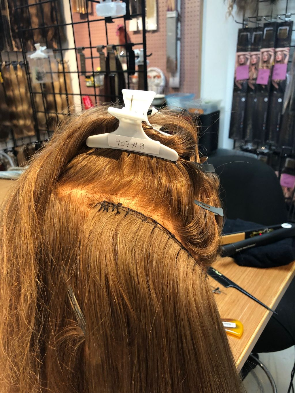How to sew a hand tied hair extension